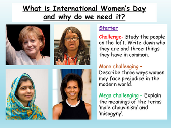 3x International Women's Day Lessons