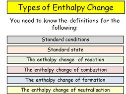Enthalpy   Teaching Resources