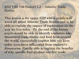 KS 2 History Atlantic Trade Routes