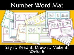 Number Mats 0 10 Say Read Draw Make Write It By Kiwilander