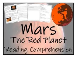 UKS2 Literacy - Mars (The Red Planet) Reading Comprehension Activity