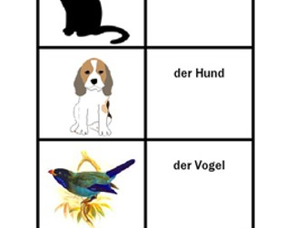 Tiere (Animals in German) Card Games