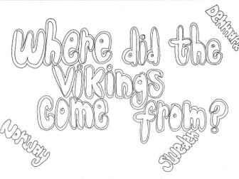 Where did the Vikings Come From? (History) Colouring Page