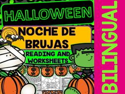 Halloween - Noche de Brujas - Reading and Worksheets - Bilingual