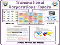 Transnational Corporations (Multinationals)- Toyota