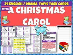 A Christmas Carol Task Cards