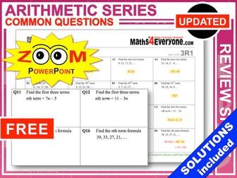 GCSE Revision (Arithmetic Sequences)