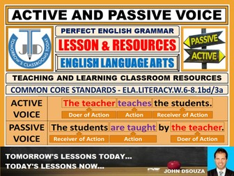 ACTIVE AND PASSIVE VOICE: LESSON PLAN AND RESOURCES