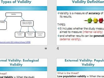 VALIDITY - Psychology Research Methods Full Lesson - AQA (new spec 2015) - powerpoint and activities