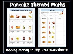 Pancake Day Maths Adding Money