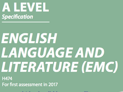 H474 - English Language and Literature Course Tracker (A-Level)