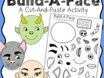 Cut & Paste Build-A-Face Creative Writing Activity & Character Prompt