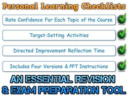 PLC - AQA GCSE Chinese - Vocabulary (Personal Learning Checklist) [Incl. 4 Different Formats!]