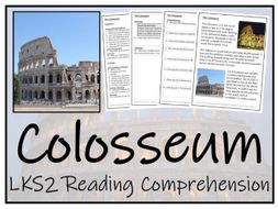 LKS2 History - Colosseum Reading Comprehension Activity