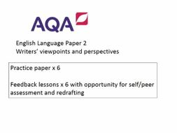 AQA GCSE English Language Paper 2 Practice Papers and Feedback