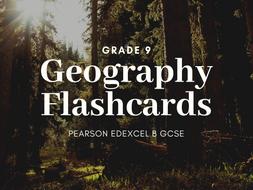 GEOGRAPHY FLASHCARDS EDEXCEL B GCSE
