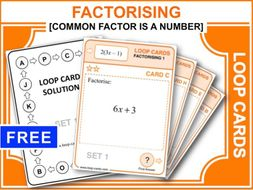 Factorising 1 (Loop Cards)