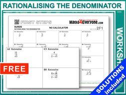 Surds (Rationalising The Denominator)