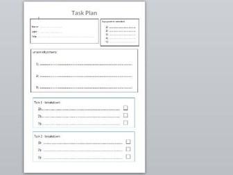 SEN and ASC/ASD task plan and help sheet