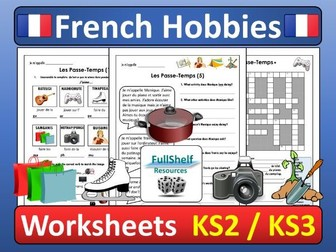 French Hobbies Worksheets (Les Passe-Temps)