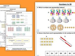 FREE Year 1 Numbers to 50 Spring Block 2 Maths Homework Extension