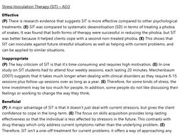 Stress Inoculation Therapy Revision (A2 Psychology)