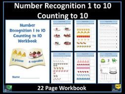 Number Recognition: Counting to 10: Worksheets