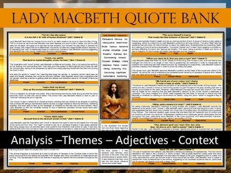 Lady Macbeth A3 Quote Bank