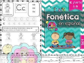 Spanish Phonics Book Set #4: Letras c fuerte & n