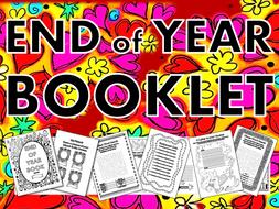 End of Year Booklet 2019 – term, book, memory, wordsearch, crossword, quiz, worksheet