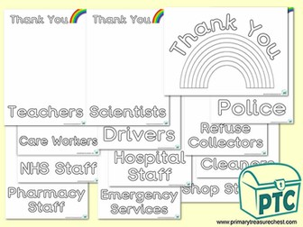Thank You Colouring in Posters Pack