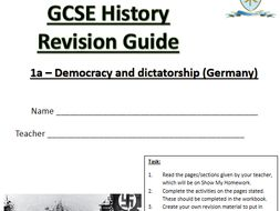 AQA GCSE History (9-1) Germany revision workbook