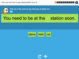 I can use one noun to say what another noun is - Interactive Activity - Year 3 Spag