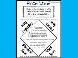 Place Value - Numbers and Base 10 - Interactive Notebook Activity
