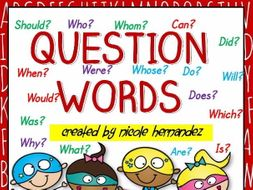 5ws and h question words anchor chart who what when where why