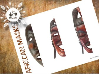 Complete the African Masks - great end of year / term lesson