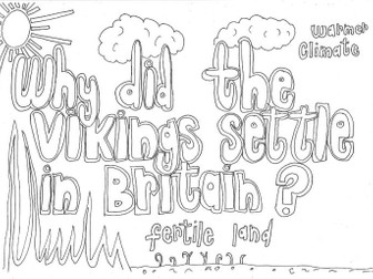 Why did the Vikings Settle in Britain? (History) Colouring Page