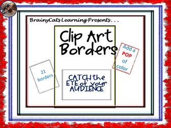 Colorful Page Border Clip Art