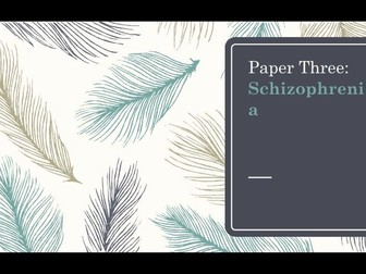 Schizophrenia Flashcards