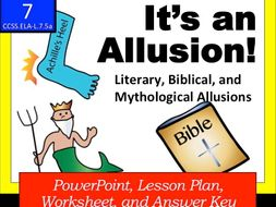 It S An Allusion Literary Biblical And Mythological Allusions By