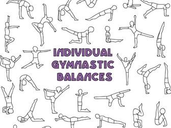 Individual gymnastic balances