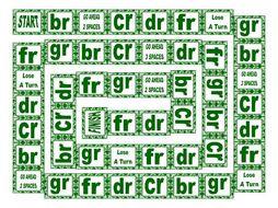 Phonics Consonant Blends br-cr-dr-fr-gr Text Board Game