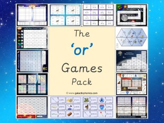 The 'or' Phonics Games Pack (Phase 3)