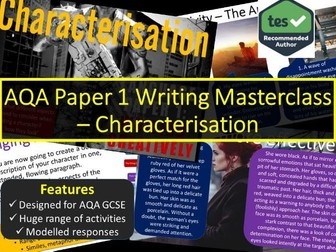 Creative Writing Masterclass - Characterisation