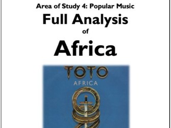 AFRICA - TOTO - Full and Detailed Analysis - Eduqas GCSE Music