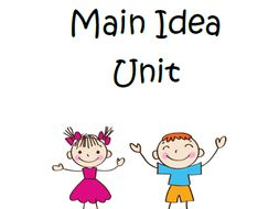 Beginning Main Idea Unit