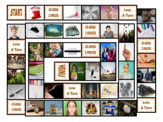 Phonics 2-3 Letter Digraphs ng-nk-chr-phr-shr-thr Photo Board Game