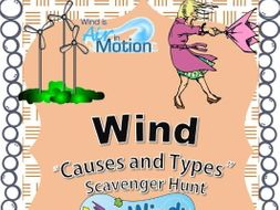 Wind Scavenger Hunt - Causes and Types - An Activity