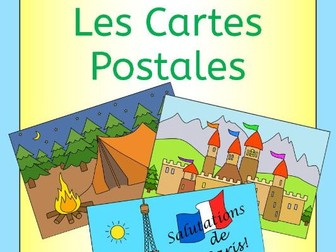 French Summer Holiday - write a postcard - Cartes Postales