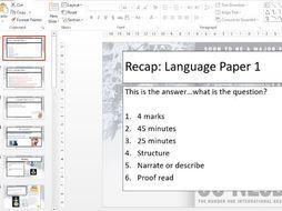 AQA English Language Paper 1 Lessons - The Snowman